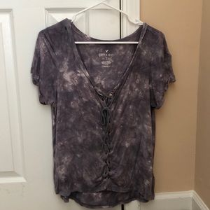 Purple tie dye shirt